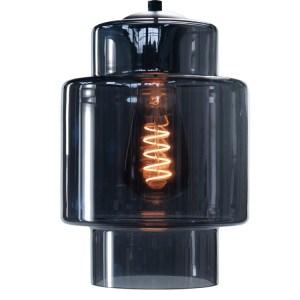 Lampenkap glas smoke Moderno 16cm