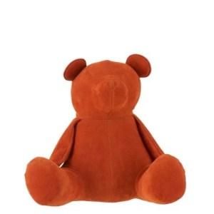deco beer oranje fluweel 23cm