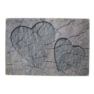 Deurmat hart hout grijs