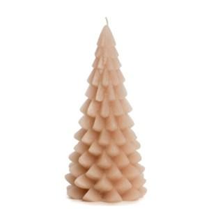 Kerstboom kaars roze 10x20cm-skin