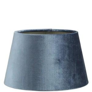 Lampenkap blauw velvet halfhoog 18x14x12cm