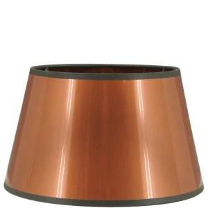 Lampenkap koper metal halfhoog 20x15x12cm