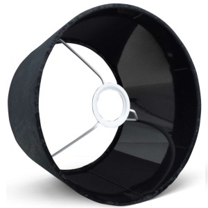 Lampenkap zwart velours halfhoog detail