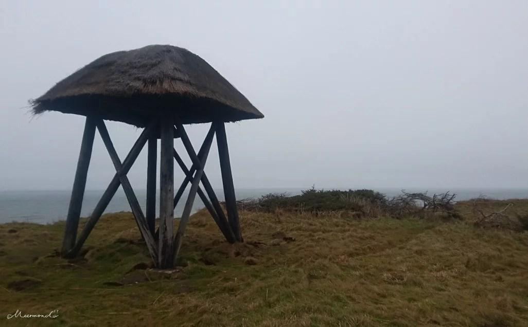 Glockenturm Nr. Lyngby bei schlechtem Wetter