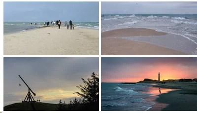Bilder von Skagen, dem Grenen und dem grauen Leuchtturm