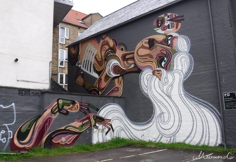 Aaalborg Innenstadt Streetart Tiendeladen