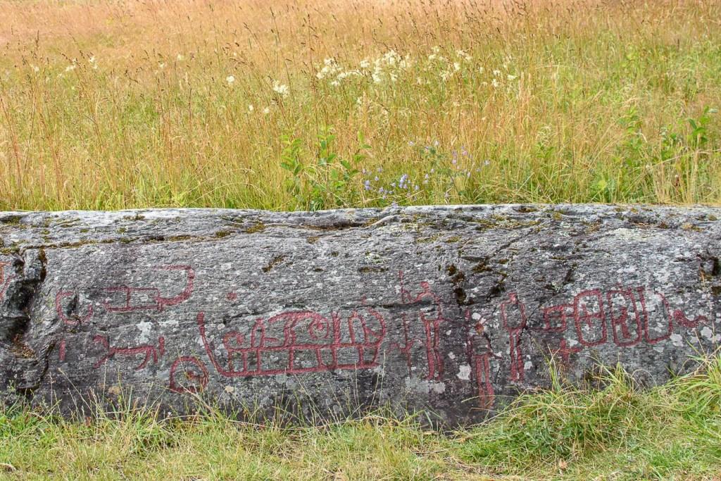 Schweden Dalsland Högsbyn Felsenzeichnung