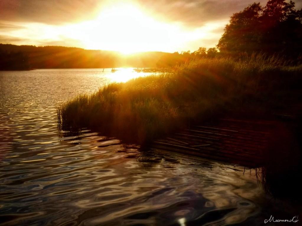 Sonnenuntergang Vindöns Schweden