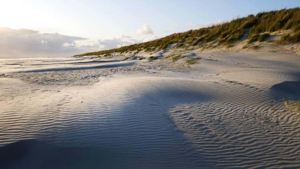 Urlaub im Herbst - Sandstrand von Dänemark