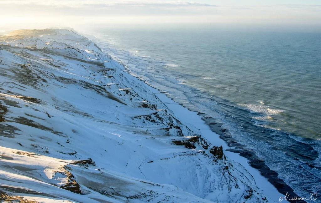 Steilküste Rubjerg Knude mit Schnee