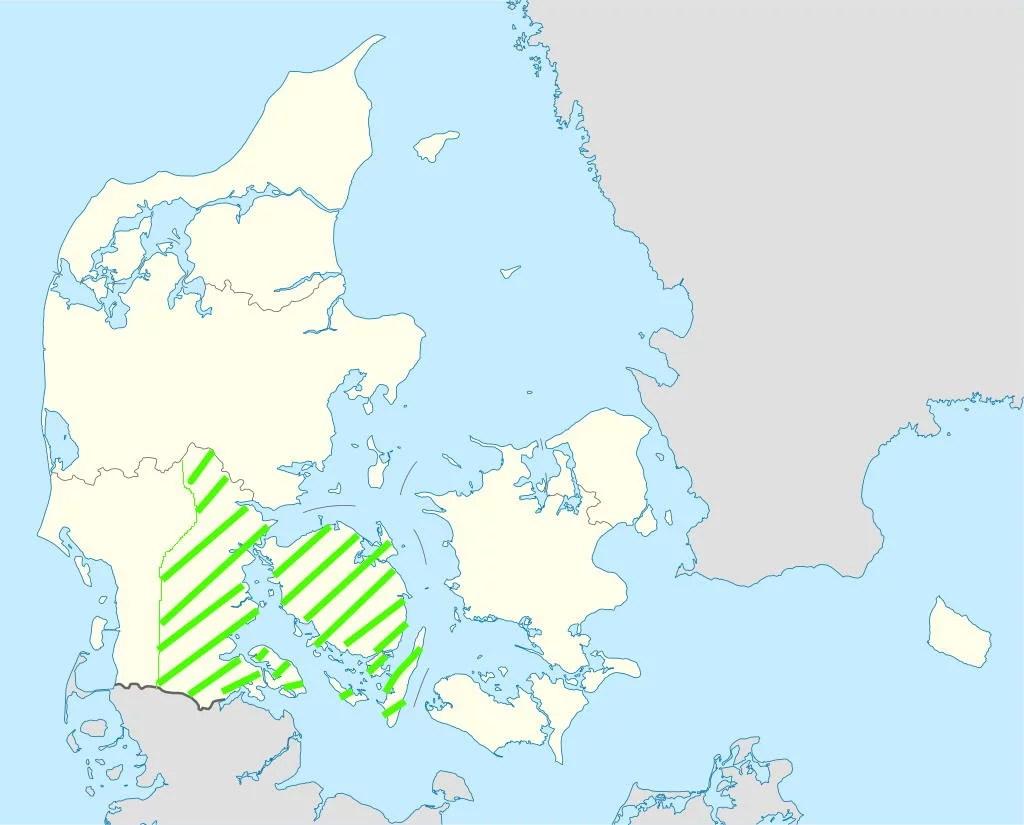 Urlaubsregion Süddänemark Karte