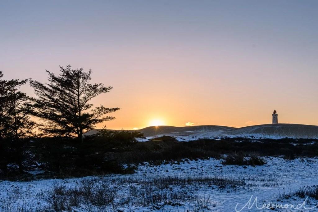 Sonnenuntergang über der Düne Rubjerg Knude