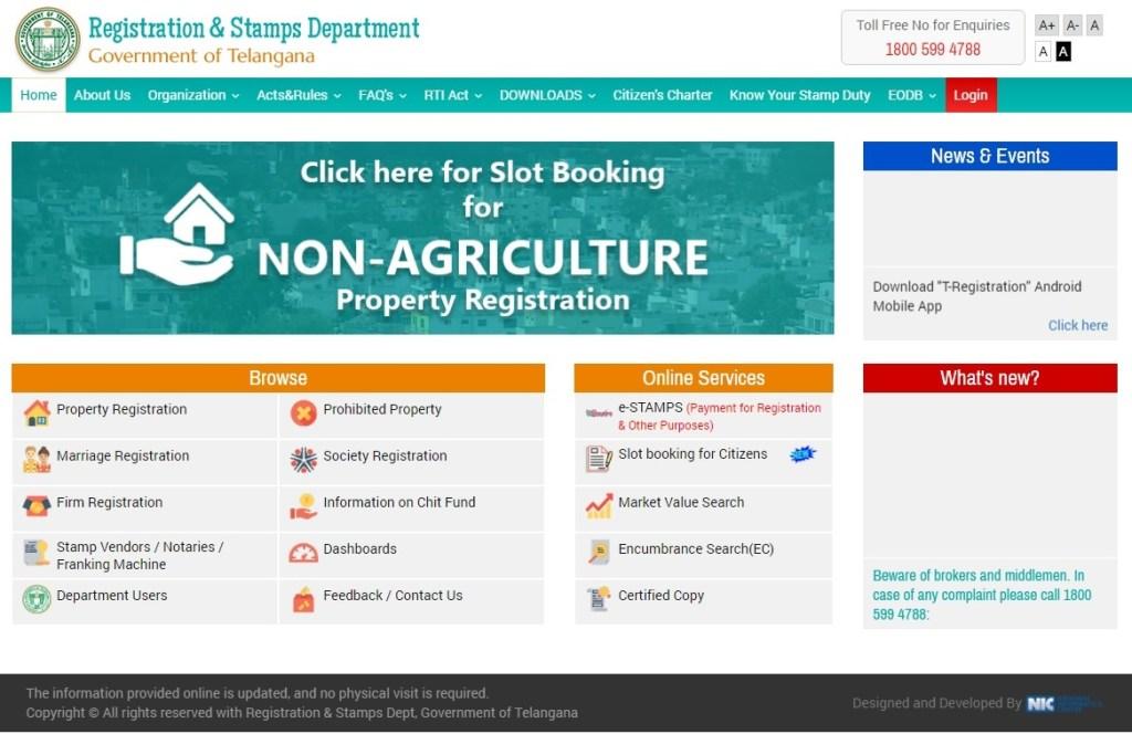 Registration & Stamps Department Telangana