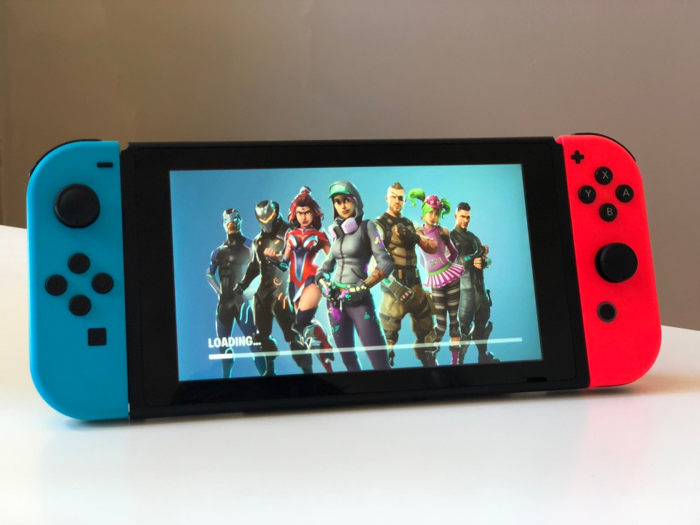 Fortnite Loadingscreen meester Sander nintendo switch