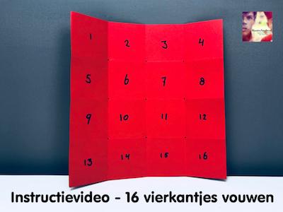 instructievideo 16 vierkantjes vouwen
