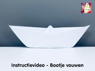 instructievideo bootje vouwen