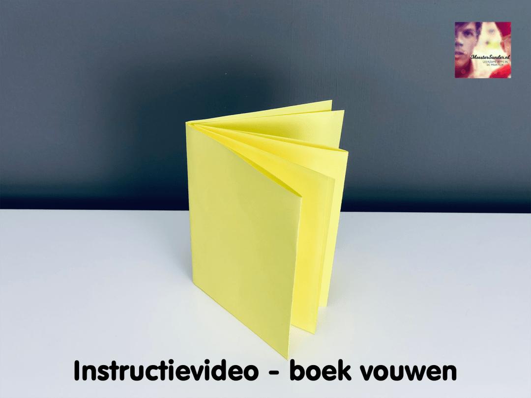 instructievideo boek vouwen