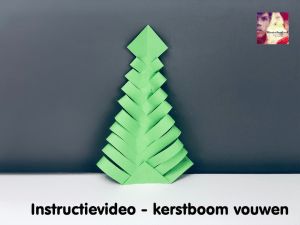 instructievideo kerstboom vouwen