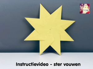 instructievideo ster 2d vouwen