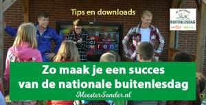 Zo maak je een succes van de nationale buitenlesdag-klein