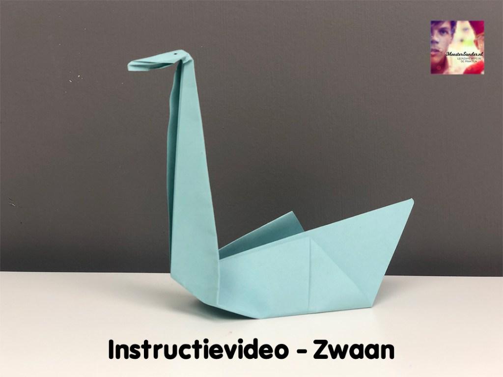 instructievideo Zwaan vouwen