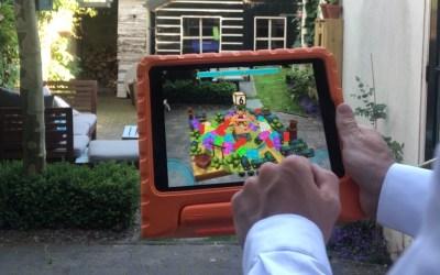 Augmented Reality laat kinderen buiten rekenen in een Ninja Wereld – Gratis Math Ninja AR App