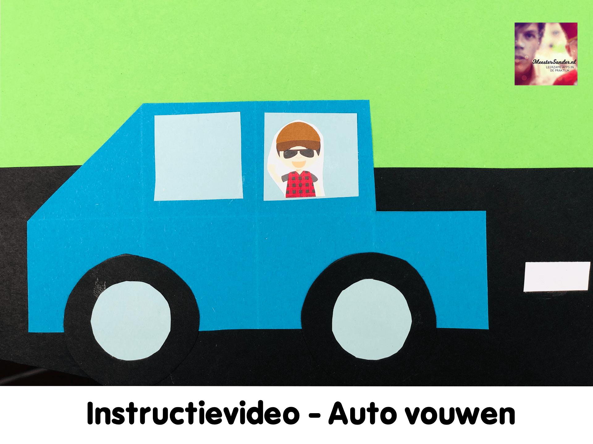 instructievideo auto knutselen vouwen