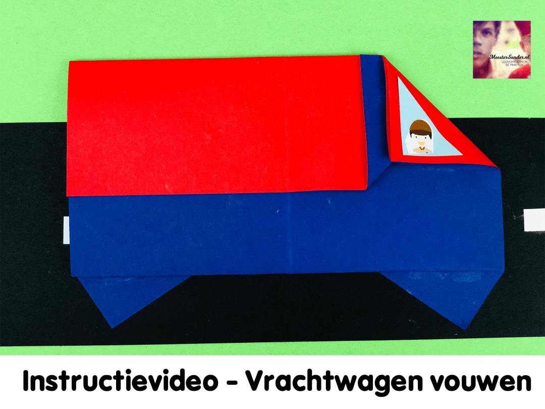 instructievideo vrachtwagen vouwen knutselen