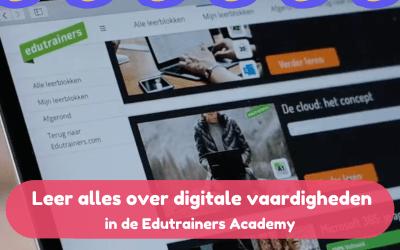 Leerkrachten werken aan digitale vaardigheden in de Edutrainers Academy