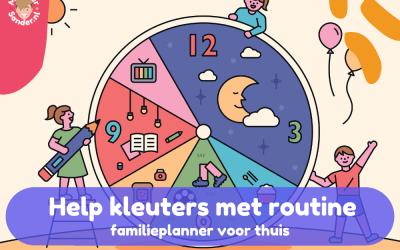 Maak routines thuis zichtbaar voor kleuters met de Bobo familieplanner