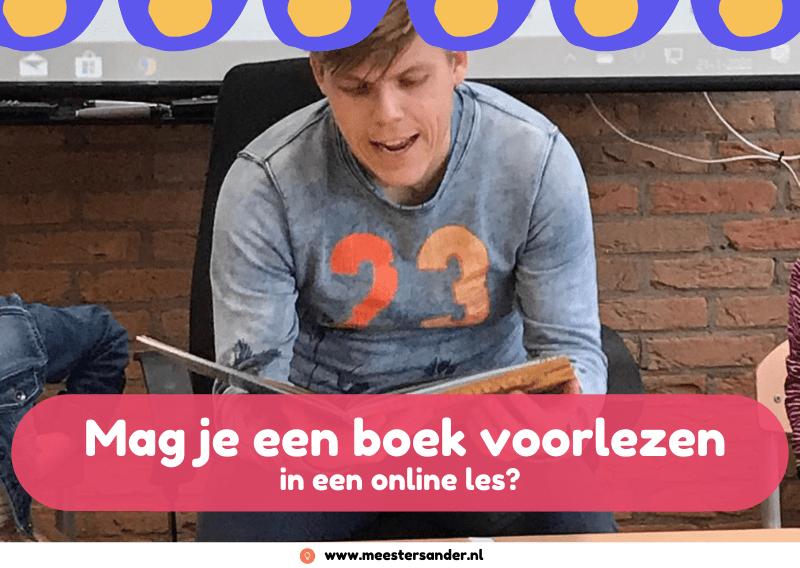 Mag je een boek voorlezen in een online les?