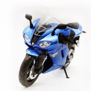 川崎忍者 ZX-6R 藍色電單車【 比例 1:12】
