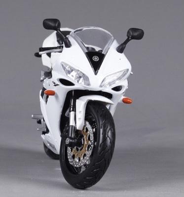 山葉 YZF-R1 白色電單車【 比例 1:12 】