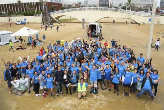 637 Kg of waste collected from the beaches of Barcelona