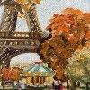 Tour eiffel en automne Edwige Mitterrand Delahaye