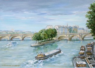 Pont neuf oil painting