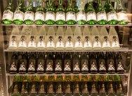 Sake selection at Miku Restaurant
