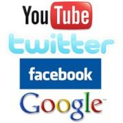 Bildergebnis für facebook twitter, google youtube