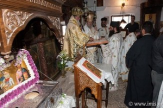 During the annual celebration in honor of St. Joseph Gerontogiannis in Kapsa monastery.