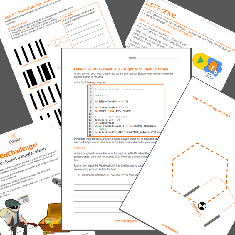 Robotics lesson plans - Worksheet
