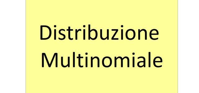Distribuzione multinomiale