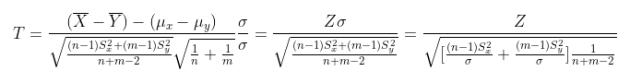 two sample t test: dimostrazione