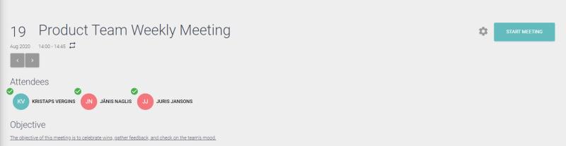 meetinch recurring meeting workspace