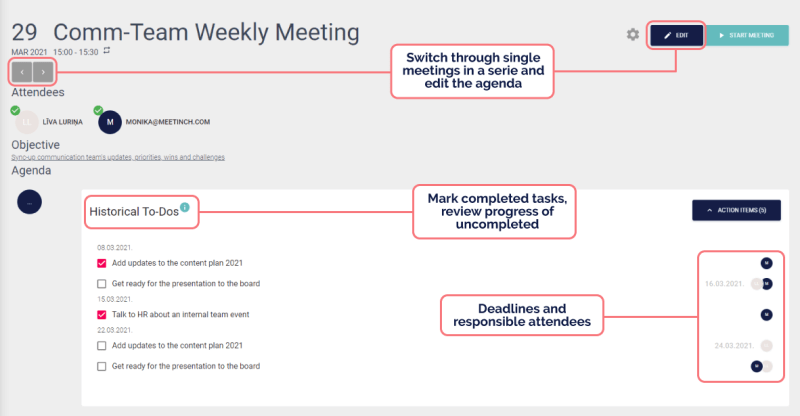 meetinch platform screenshot