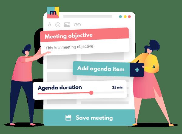 characters writing meeting agenda