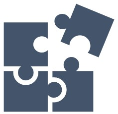 Image showing four jigsaw pieces linking together