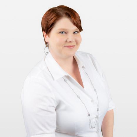 Head shot of Tifanie Haun on white background