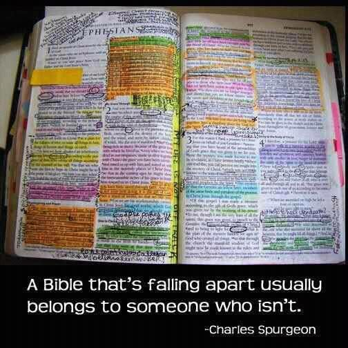 a bible that is falling apart