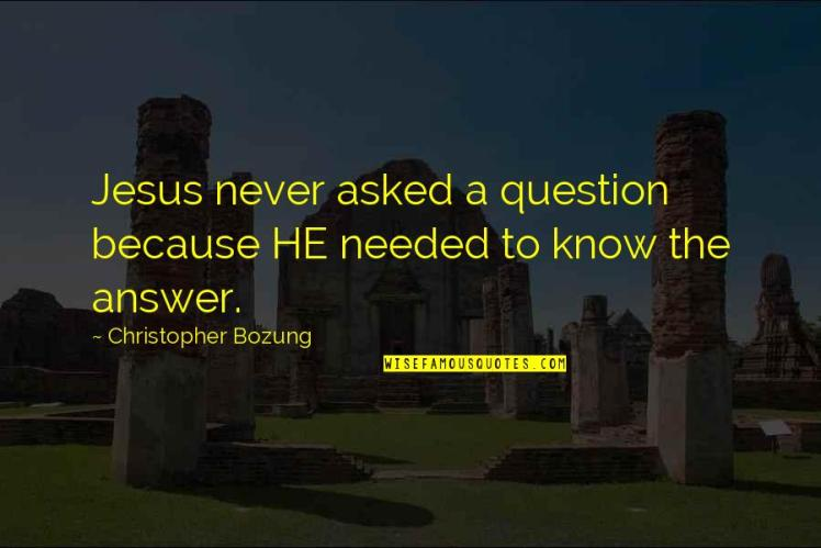 Jesus never asked