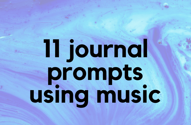 11 journal prompts using music